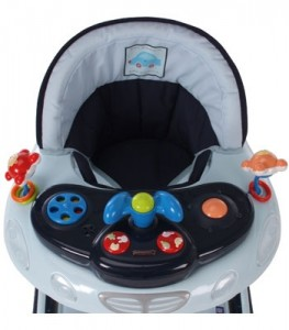 Blue playtray with musical electronic toys